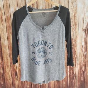 Toronto Blue Jays 3/4 Sleeve T-shirt XL Womens
